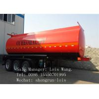 40,000 Liters Diesel Fuel Tank Trailer For Chemical Liquid Transportation