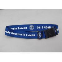 Wholesale Corporate logo gift luggage belt lanyards with secure lock, secure for your luggage bags from china suppliers