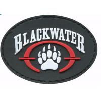 Wholesale Colorful Sticky Hook And Loop Patches , Novelty Pvc Rubber Military Patches For Clothing from china suppliers