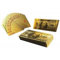 Wholesale Custom 24K Gold Foil Plated Poker Playing Cards Bridge Size 2.25 X 3.5 Inch from china suppliers