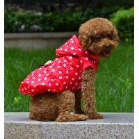 Red and Blue jacket for pet clothes with ribbon decorative