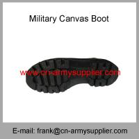 Wholesale Cheap China Military Ankle French Army Police Canvas Boot