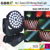 Buy cheap Professional led stage lighting equipment / 36x10W  RGBW Led Moving Head Wash Zoom from wholesalers