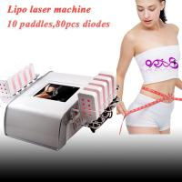 10 paddles 650nm Lipo laser slimming machine with 80 diodes DO-L02
