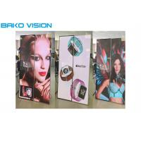 China Flexible Indoor Illuminated Poster Display Mirror Screen Front Service With Wheel on sale