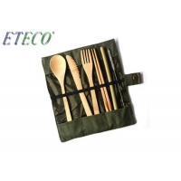 Buy cheap Reusable Cutlery Biodegradable Tableware Set Eco-Friendly Bamboo Dinnerware With from wholesalers