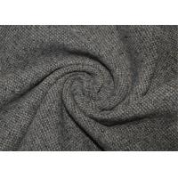 Quality Waterproof Tweed Wool Fabric Grey With Environmental Material Lightweight for sale