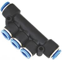 Buy cheap Multiple Tee with Mounting Holes One Touch Pneumatic Push in Fittings from Wholesalers