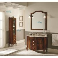 Wholesale Waterproof Solid Wood Transitional Bathroom Vanities With Left Or Right Side Cabinet from china suppliers