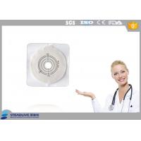 China Max Cut 45mm Hydrocolloid Flange Ostomy Bag With Tape Around Baseplate on sale