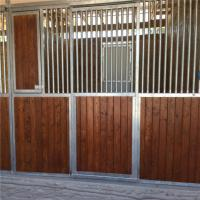 Wholesale Customized front panel wooden horse stable bamboo material horse stall from china suppliers