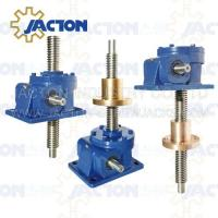 China 200 KN Mechanical Worm Gear Screw Jack Trapezoidal lifting Screw 65MM Height Adjustment on sale