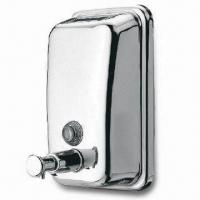 Wholesale Wall-mounted Soap Dispenser, Made of Stainless Steel, Customized Designs are Accepted from china suppliers