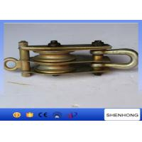 Cable Pulling Tower Erection Tools 1T 3T 8T Single Sheave Loop Type Lifting Pulleys