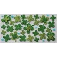 Wholesale Luckly Four Leaf Clover 3D Glitter EVA Stickers from china suppliers