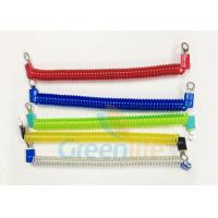 Buy cheap Coloured Steel Wire Retractable Coil Cord With Eyelet Terminals / Protectors from wholesalers