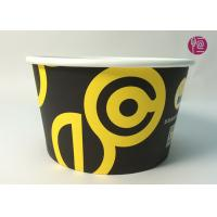 Wholesale 185mm Round Printed Paper Salad Bowls Take Away With PET Lid from china suppliers