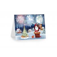 Buy cheap Greeting Card Lenticular Printing Services PP Plastic X-mas Design from wholesalers