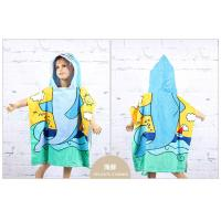 China Cotton Baby Child Bath towel Beach Towel Children Bathrobe Beach Towels Baby Cloak Cape on sale