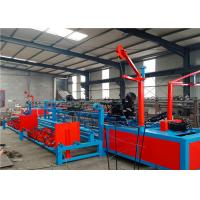 China Stop Automaticlly Double Wire Chain Link Fence Machine For Security Fence on sale