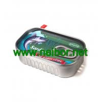 Wholesale fake Sardine style tin can metal container for paper clips storage from china suppliers