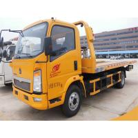 4X2 Small Flatbed Tow Truck 3 Ton 2 Axles 6 Wheels For Sinotruk HOWO CCC Approved