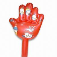 Wholesale PVC Inflatable Hand with Customized Designs, Various Colors are Available from china suppliers