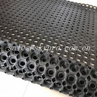 Wholesale Non - Absorbent Wet Floor Nature Rubber Mats , Holes Water Drain Door Mat from china suppliers