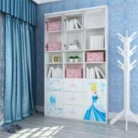 Wholesale E0 Grade Kids'/Children's Furniture/3-door Book Cabinet/Bookcases with Printing Cartoon Designs from china suppliers