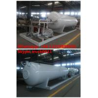 Wholesale CLW brand 10MT mobile skid lpg gas refilling station, ASME standard 10MT skid mounted propane gas plant for gas cylinder from china suppliers