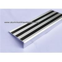Buy cheap Replaceable Aluminum Non Slip Stair Treads Anodized Shiny Silver from wholesalers