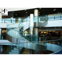 Wholesale Stainless steel staircase curved staircase glass railing curved stairs from china suppliers