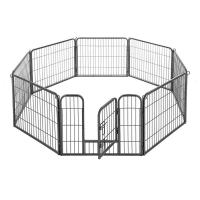 Wholesale Foldable Black Metal Dog Crate Portable Easy Assemble Thick  Frame Smooth Surface from china suppliers