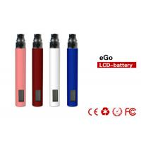 China 1100mah 4.2V E Cig Batteries 800 puffs With LCD Screen Display on sale