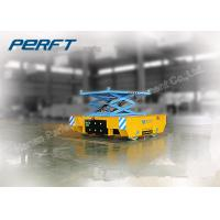 Wholesale scissor hydraulic lifting rail battery transfer heavy transfer cart from china suppliers