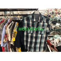 Korean Style Second Hand Mens Shirts Short Sleeves For Southeast Asia