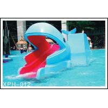 Outdoor Water Park Whales Cartoon Shape Kids Pool Water Slides, SGS