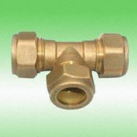 Wholesale Brass Compression Tee, Available in Different Specifications from china suppliers