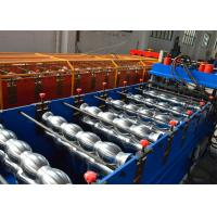 China 1.2 Inch Single Chain Drive Glazed Tile Roll Forming Machine With Material  Width 1000mm on sale