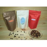 ... Plastic Stand Up Pouch Packaging , Block Bottom Coffee Bags on sale