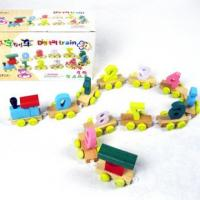 Quality Colorful bamboo jigsaw with 30pcs Blocks-Educational toys for sale