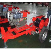 Wholesale Honda Engine 5 Ton Double Capstan Winch Cable Pulling Machine For Power Construction from china suppliers