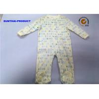 Wholesale Letter Wording AOP Baby Unisex Coverall 100% Cotton Long Sleeve Snap Closure Pram Suit from china suppliers