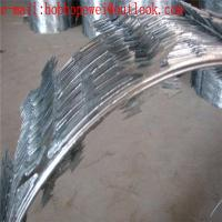China Galvanized Razor Barbed Wire/Airport Fencing Razor Wire/450mm Coil 10m Length for Security Fence factory price on sale