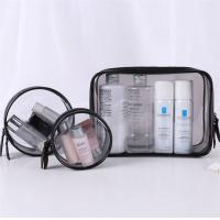 Wholesale Flexible 3 Piece Clear Cosmetic Bag Set Good Stability Every Size Available from china suppliers