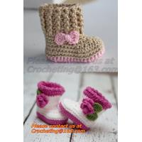 Wholesale Crochet Baby, Sandals, Handmade, Knit, Summer Boys Booties, Baby Shoes,  Infant, Slippers from china suppliers