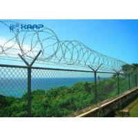 China Decorative  Galvanized Chain Link Fence Heavy Duty High Strength For Security on sale