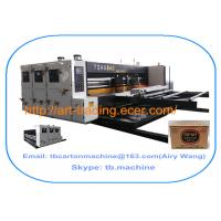 Buy cheap white color high quality TB800 lead edge feeder 2 color printing slotting machine for big size corrugated carton box from Wholesalers