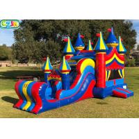 China Commercial Blow Up Bounce House With Waterslide Plato Vinyl PVC Material on sale