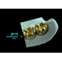Buy cheap Yellow Gold Full Cast Metal Crown High Casting Accuracy ISO13485 from Wholesalers